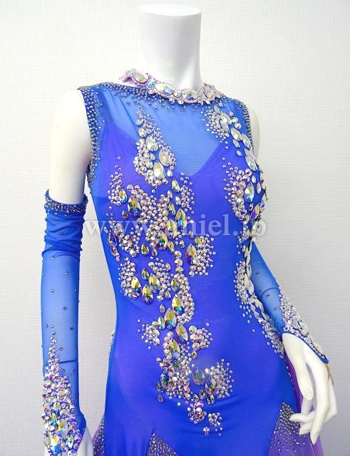 14b7e5279fb26 社交ダンスドレス(衣装)のドレスネットアニエル   M5766・ Chrisanne Clover ブルー ラベンダー